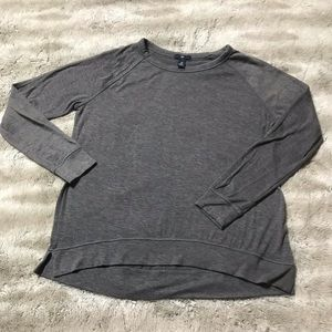 I am selling a gray GAP crew neck sweater.